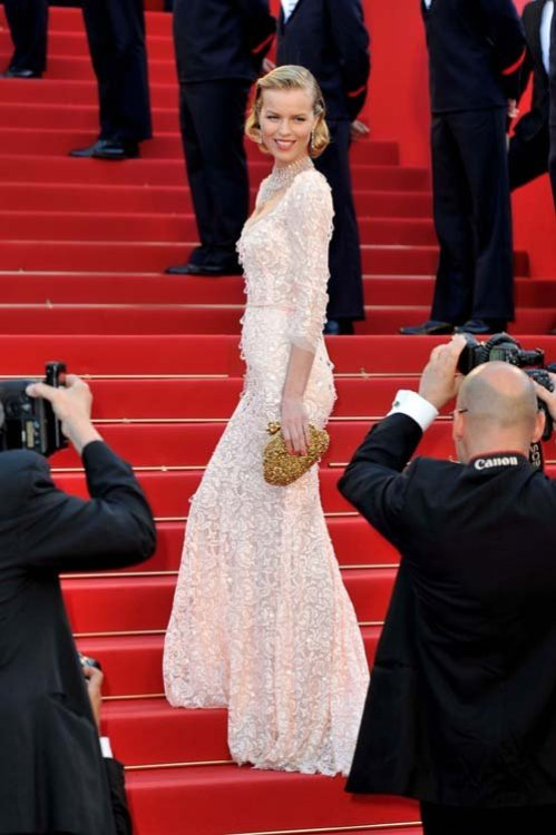 s7fashion:  Eva Herzigova ~ Cannes Film Festival Opening Ceremony 2012