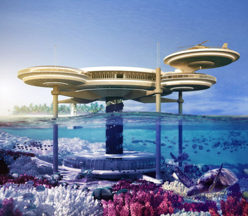 whereisthecoool:  Underwater Hotel in Dubai More info here.