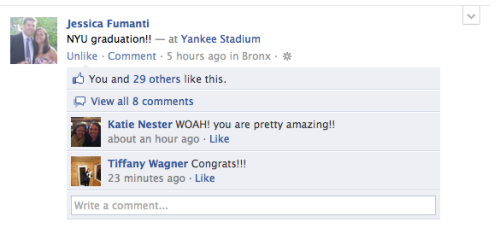 More Facebook updates from our graduating NYU Wagner students!