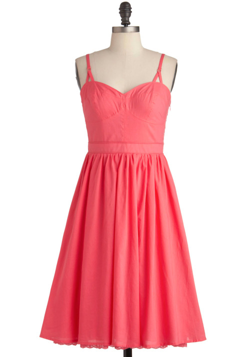 modcloth:  As soon as I saw the Melon Love with a Dress, I fell in love! Not only is this silhouette super classic and feminine, but the melon color is perfection. <3 Chelsey, ModStylist Need styling suggestions, trend tips, or dress details? Ask a ModStylist and your question might be featured on our feed!