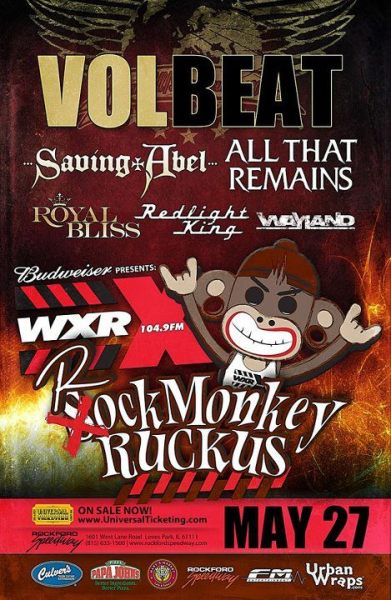 epicsteveohtime:  Fuckin' stoked to see Volbeat, All That Remains, Nonpoint, and Taproot!  God I can't wait!