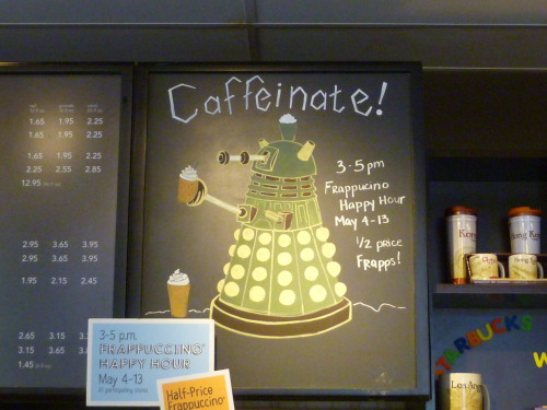 dftbhailey-42:  Look at what I found in a Starbucks in New Jersey on my trip! I fangirled right in the middle of the store.