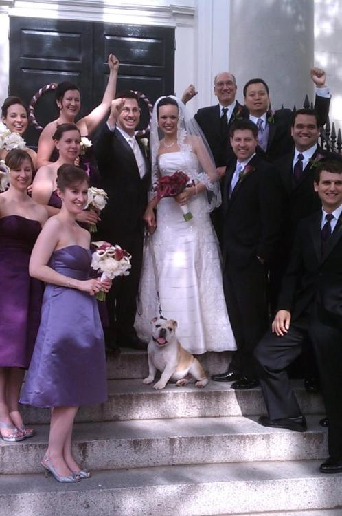 jackjrmascotintraining:  guys, I crashed a wedding. KIDDING. I was the guest of honor, of course. I even caught the bride's flowers…now to find mascot-ette…