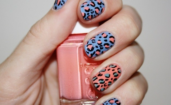 Super fun leopard nails