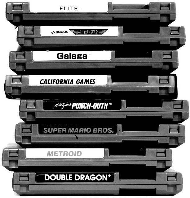 heyoscarwilde:  Weekend Plans. Nintendo cartridge stack photograph by Dave Wongillies :: via daveg
