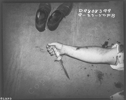 vintagecrime:  Shoes, arm and knifeDate: 09-23-50 Vintage Crime