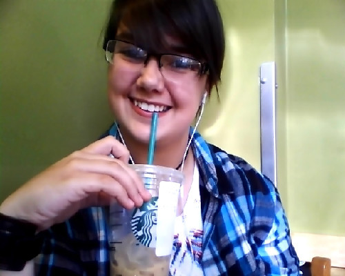 I wook dwunk. I might as well be. CAFFEINE.<3 I swear to god I look 12 sometimes.