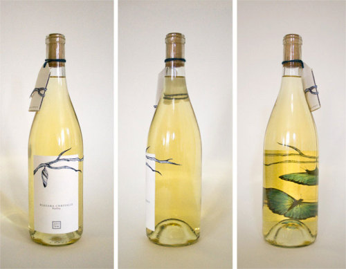 (via Student Spotlight: Niagara Chrysalis Riesling - The Dieline - The #1 Package Design Website -)