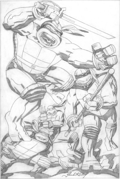 ghostattack:  Kirby on TMNT (via From: Kandow Erik | Kirby Dynamics)