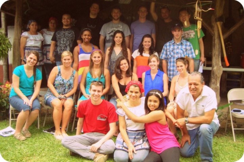 The whole group at our traditional Costa Rican cooking class.