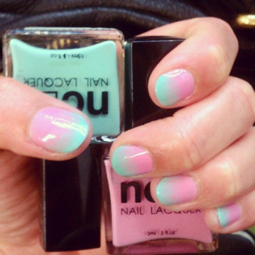 Trying out @mpnails inspired fade with @shopncla colors! I can't stop looking at my nails.  (Taken with instagram)