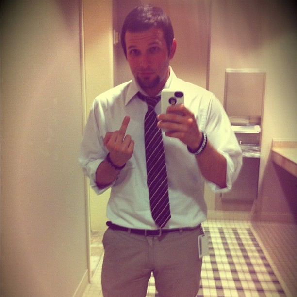 Like a bawwsss #work #suit #tie #business #happy #bossmodeengaged (Taken with instagram)