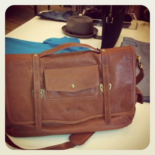 Great men's satchel! Available at @Bloomingdales  (Taken with instagram)