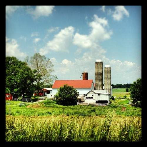 Driving by the farmlands of Lancaster County, Pennsylvania  (Taken with instagram)
