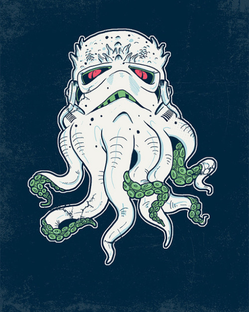 Stormthulhu illustration by Hillary White :: via wytrab8.deviantart.com