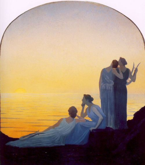 Evening in Antiquity  Alphonse Osbert