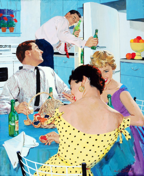 Ballantine Beer advertisement, by Mike Ludlow c. 1950's