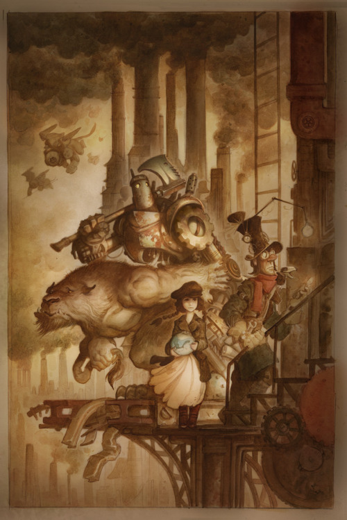 """Steampunk Wizard of Oz"", by Justin Gerard."