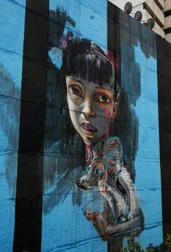 Herakut Mexico City: High Art in Thin Air #streetart @bkstreetart (photo © courtesy of All City Canvas)