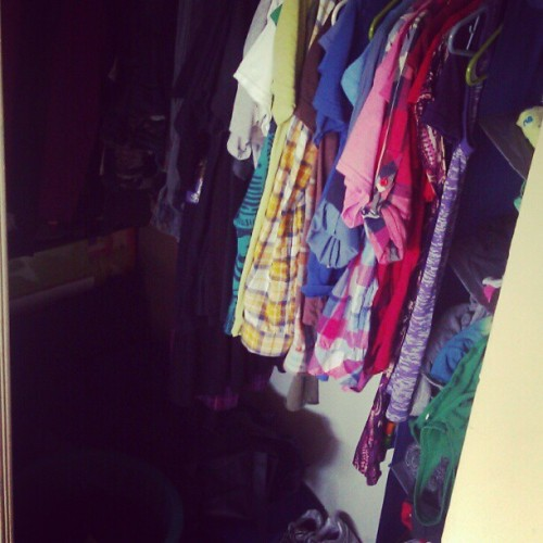 My lovely walk in closet. #closet #maychallenge #day16 #clothes  (Taken with instagram)