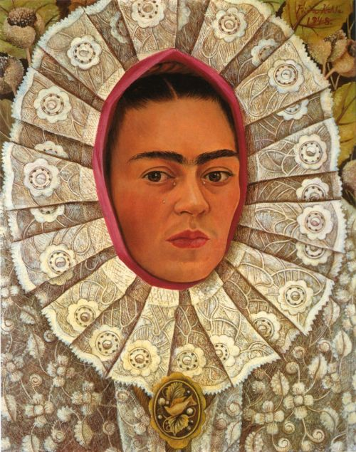 gangstersaysrelax:  Frida Kahlo, Self Portrait (Autorretrato) - 1948