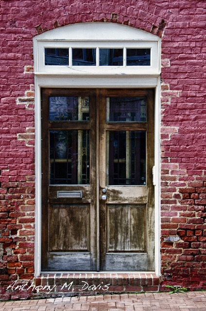 Her Love was Hidden Behind Old Doors on Flickr.An old doorway, a facade, hiding what's really inside.
