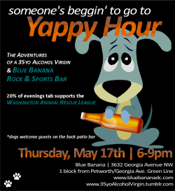 If you're near the DC area, hope you can make it out for a yappy good time! 20% of the night's events benefits the Washington Animal Rescue League.