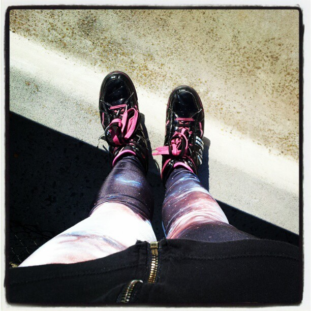 Smoko break. Enjoying the sun in #blackmilk #pastry #kicks  (Taken with instagram)