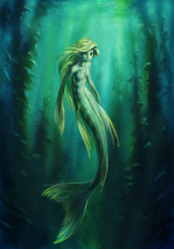 Yellow mermaid by *vidagr