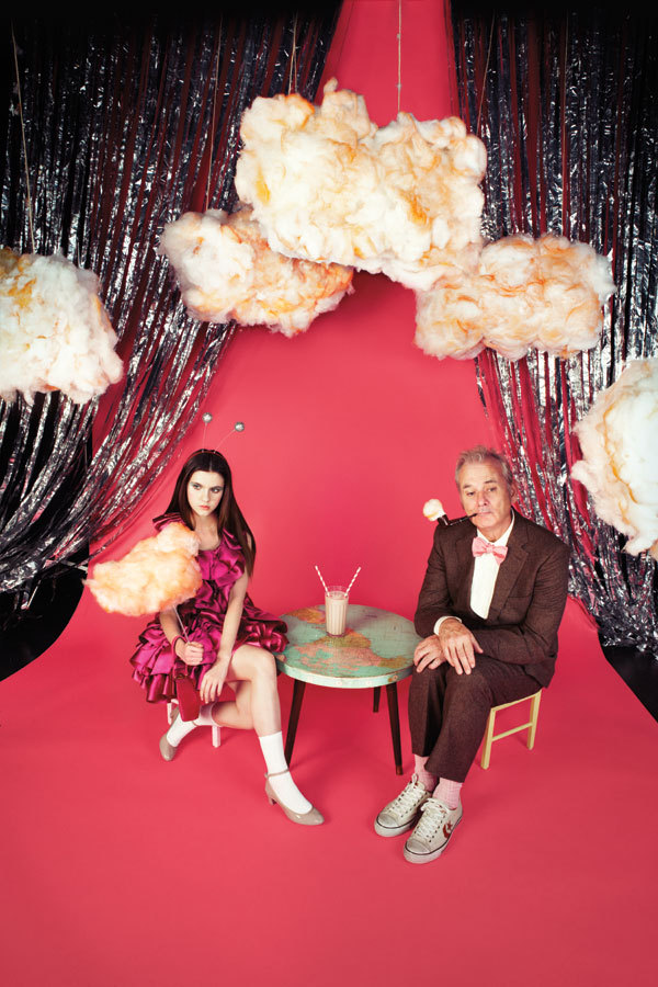 Bill Murray and Kara Hayward in Harper's Bazaar
