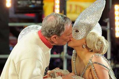 2012: The Mayor and Lady Gaga kiss on New Year's. This was fun. This…?  Not so much.   Big ups though. GREG JOHNSON