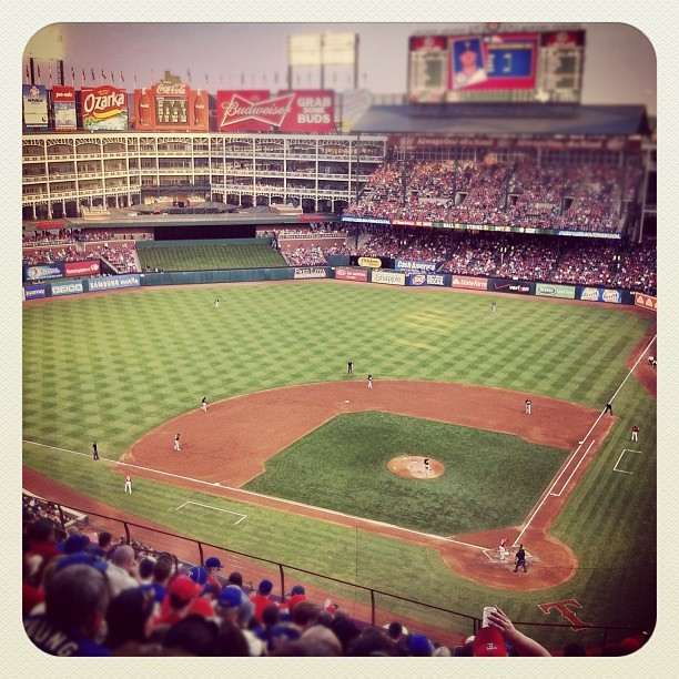 Baseball!! (Taken with Instagram at Rangers Ballpark in Arlington)