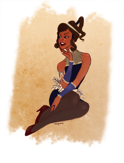 notgroovy:  wow this is messy um all the cute swing music in korra made me think of the 20s!!! like wow how cute would that be huh flapper!korra i guess!! IDKIDK THROWS SELF INTO HAMPER