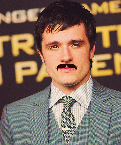 3/5 pictures of Josh Mustache Hutcherson