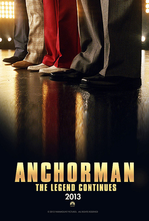 iheartchaos:  The first official poster for Anchorman 2 Great Odin's raven, I can't wait. Via