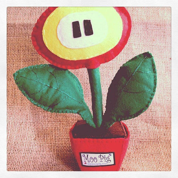 #supermario #etsy #etsyshop #felt #handmade #fireflower #moopig  (Taken with Instagram at E Atlanta)