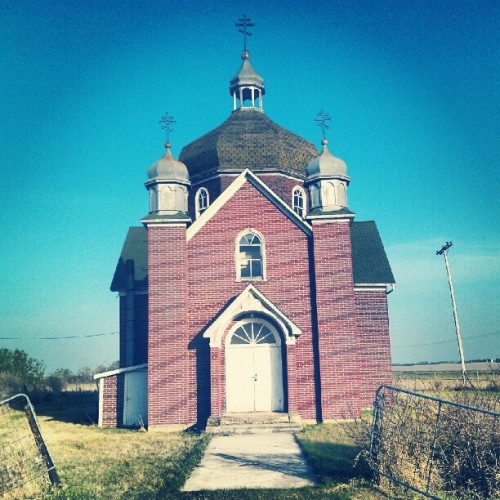 picturesfromtheroad:  #Insinger #Saskatchewan #Orthodox #Church (Taken with instagram)