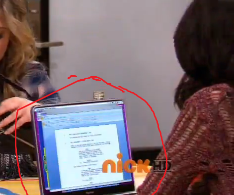 I'm pretty sure Carly was writing a script for iCarly in this screencap.