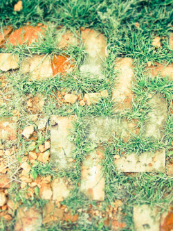 Brick & grass pattern