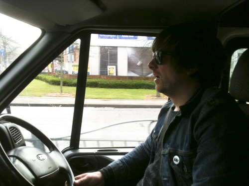 "4/20 - Off to Stoke-on-Trent! First day of the actual ""tour"". Dan is the only one with a valid driver's license…besides me. And I'm still shaky on that whole ""left side of the road"" thing."