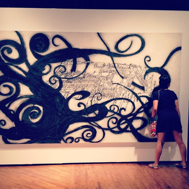 I think @veejewls was enjoying the art. #molaa #longbeach #art #museum 😳 (Taken with instagram)