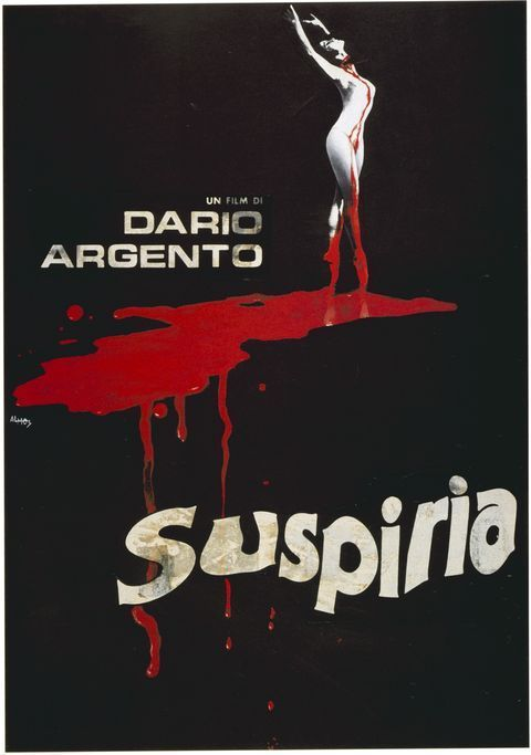 "French movie poster for the 1977 Dario Argento film ""Suspiria"". Click the pic to watch the original international trailer."