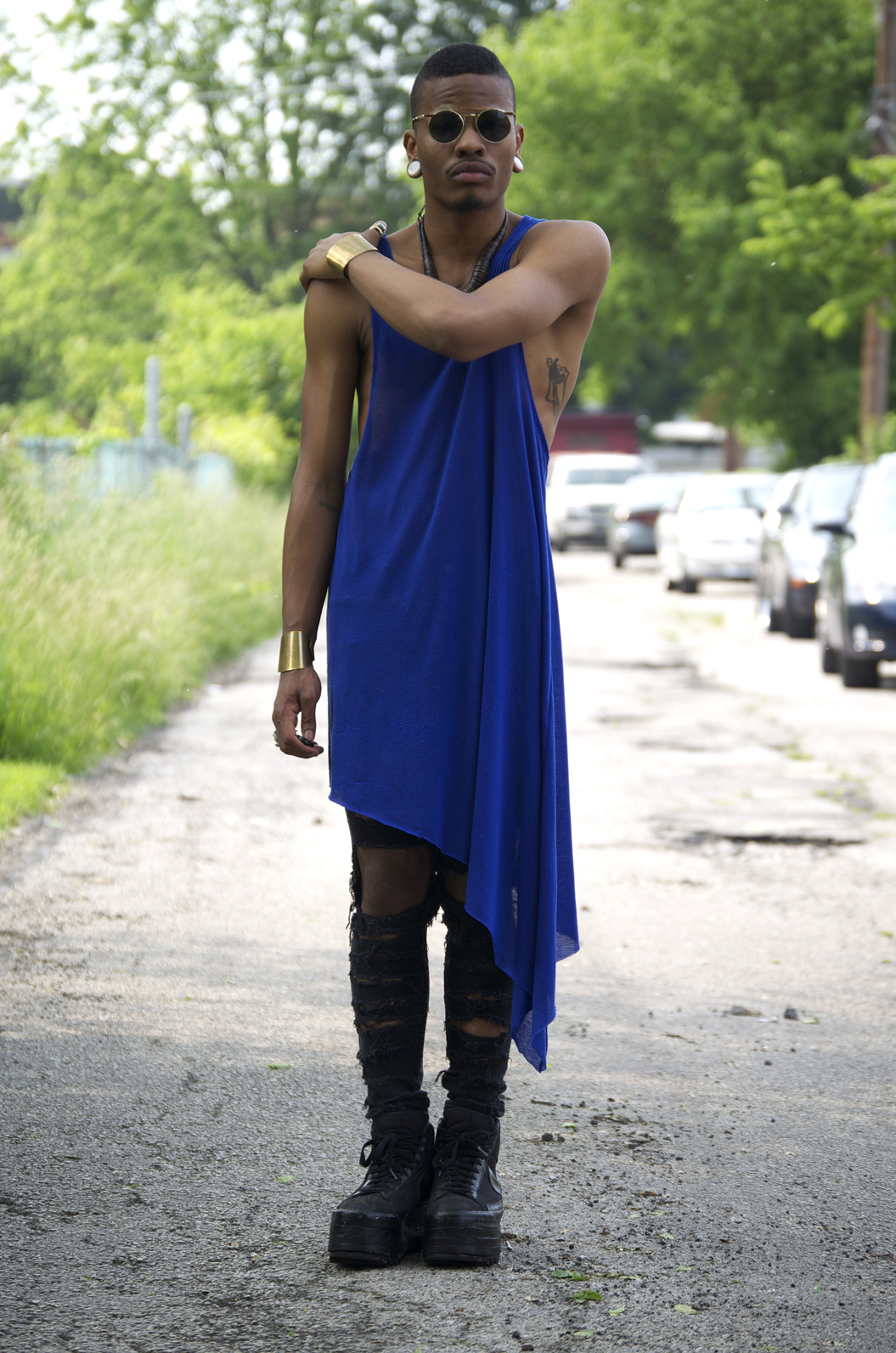blackfashion:  Marcus Branch of SKLTNmagazine