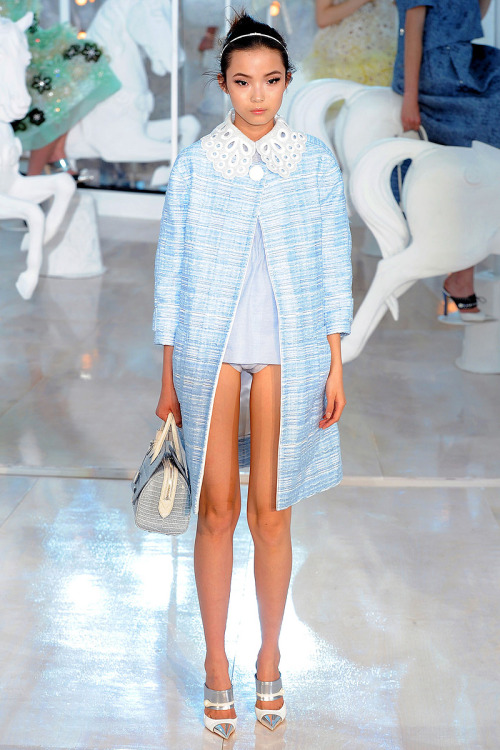 fashioninquality:  Xiao Wen Ju at Louis Vuitton Spring/Summer 2012
