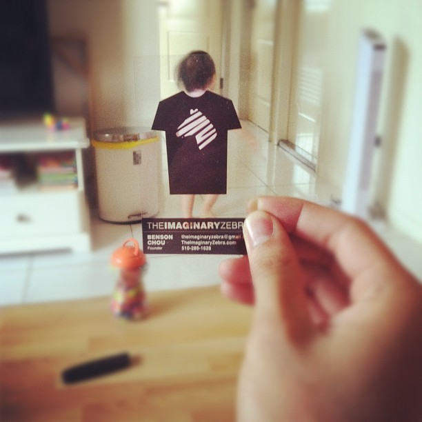 theimaginaryzebra:  V8 business card. (Taken with instagram)