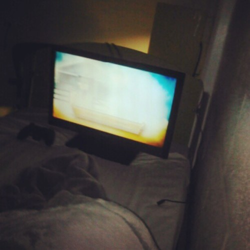 I watch tv in bed! :) #imaboss #dutydays #navy  (Taken with instagram)