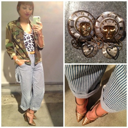 #outfitoftheday: #patternmixing all over. #ootd #whatiwore  (Taken with instagram)