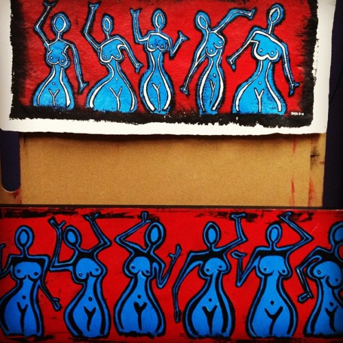 #art #painting #acrylic #red #figurative #wip #blue (Taken with instagram)