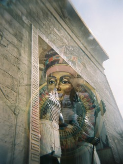 The Revenge of the Mummy in multiple exposures Holga 120N by Melancholik