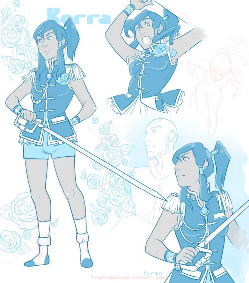 (Here, have more Revolutionary girl Korra sketches~ I reeeally liked this crossover~)